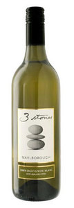 3 Stones Sauvignon Blanc 2009, Marlborough, South Island Bottle
