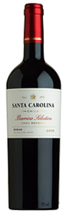 Santa Carolina Barrica Selection Syrah 2008, Maule Valley Bottle