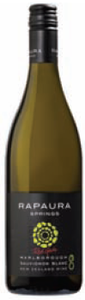 Rapaura Springs Sauvignon Blanc 2009, Marlborough, South Island Bottle