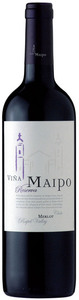Viña Maipo Reserva Merlot 2009, Rapel Valley Bottle