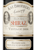 Kay Brothers Amery Vineyards Block 6 Shiraz 2006, Mclaren Vale Bottle