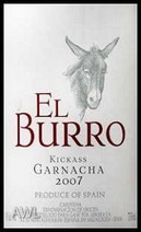 El Burro Kickass Garnacha Bottle