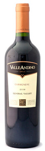 Valle Andino Carmenere 2009, Maule Valley Bottle