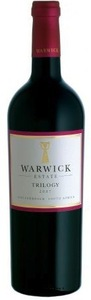 Warwick Wine Estate Trilogy 2007, Stellenbosch Bottle