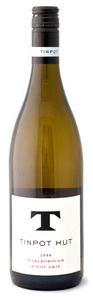 Tinpot Hut Pinot Gris 2008, Marlborough Bottle