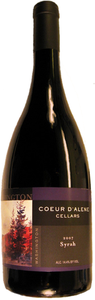 Coeur D'alene Cellars Syrah 2007, Washington Bottle