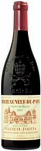Château Fortia Cuvée Du Baron Châteauneuf Du Pape 2007, Ac Bottle