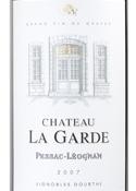 Château La Garde 2007, Ac Pessac Léognan Bottle