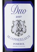 Duo De Conseillante 2007, Ac Pomerol, 2nd Wine Of Ch. La Conseillant Bottle