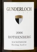 Gunderloch Riesling Auslese 2006, Nackenheim Rothenberg, Rheinhessen Bottle