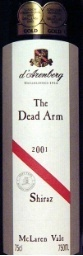 D'arenberg Dead Arm Shiraz 2001  2001 Bottle