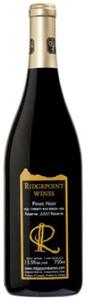 Ridgepoint Reserve Pinot Noir 2007, VQA Twenty Mile Bench Bottle