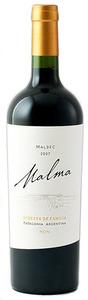 Malma Reserva Malbec 2007, Neuquén, Patagonia Bottle