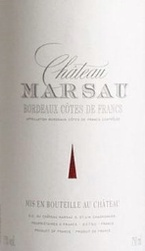 Chateau Marsau 2008 Bottle