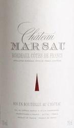 Chateau Marsau 2008 Bottle