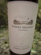Robert Mondavi Oakville Cabernet Sauvignon 2007, Oakville District, Napa Valley Bottle