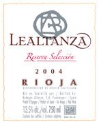 Lealtanza Reserva Selección 2004, Doca Rioja Bottle