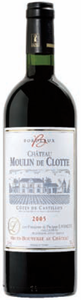 Château Moulin De Clotte 2005, Ac Côtes De Castillon Bottle