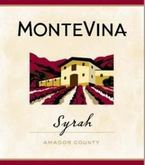 Montevina Amador County Syrah Bottle
