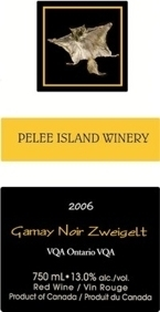 Pelee Island Gamay Noir Zweigelt 2009, Ontario VQA Bottle