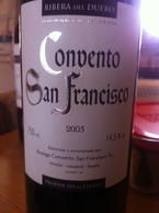 Convento San Francisco 2005 Bottle