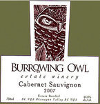 Burrowing Owl Cabernet Sauvignon 2007 Bottle