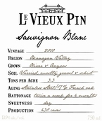 Le Vieux Pin Sauvignon Blanc 2010, Okanagan Valley Bottle