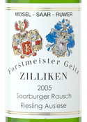 Zilliken Gold Cap #8 Riesling Auslese 2005, Saarburger Rausch, Saar Valley Bottle