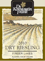 Dr. Konstantin Frank's Vinifera Cellars Riesling Dry 2010, New York, Finger Lakes Bottle