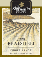 Dr. Frank Rkatsieli 2008, Finger Lakes, Ny Bottle