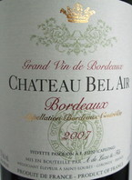 Chateau Bel Air 2008 Bottle