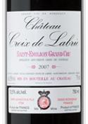 Château Croix De Labrie 2007, Ac Saint émilion Grand Cru Bottle