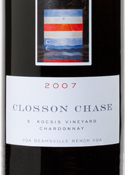 Closson Chase S. Kocsis Vineyard Chardonnay 2007, VQA Beamsville Bench, Niagara Peninsula Bottle
