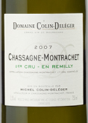Domaine Colin Deléger En Remilly Chassagne Montrachet 1er Cru 2007, Ac Bottle
