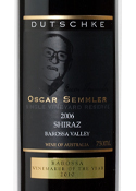 Dutschke Oscar Semmler Shiraz 2006, Barossa Valley, South Australia Bottle
