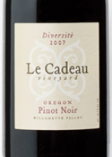 Le Cadeau Vineyard Diversité Pinot Noir 2007, Willamette Valley Bottle