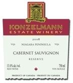 Konzelmann Cabernet Sauvignon Reserve 2011, VQA Bottle