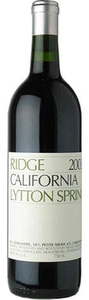 Ridge Lytton Springs 2008, Dry Creek Valley Bottle