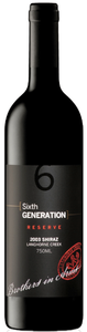 Brothers In Arms Sixth Generation Reserve Shiraz 2003, Langhorne Creek, South Australia Bottle