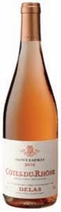 Delas Frères Saint Esprit Côtes Du Rhône Rosé 2010, Ac Bottle