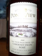 Pondview 2010 Cabernet Franc Rose 2010 Bottle