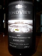 Pondview 2009 Riesling 2009 Bottle