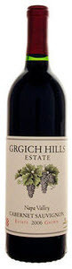 Grgich Hills Estate Cabernet Sauvignon 2007, Napa Valley, Made From Biodynamic Grapes Bottle
