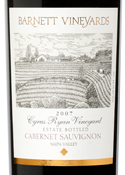Barnett Cyrus Ryan Vineyard Cabernet Sauvignon 2007, Napa Valley Bottle