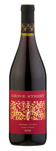 Grove Street Pinot Noir 2008, Sonoma County Bottle