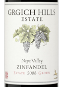 Grgich Hills Estate Grown Zinfandel 2008, Napa Valley Bottle