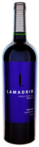 Lamadrid Single Vineyard Reserva Bonarda 2008, Mendoza Bottle
