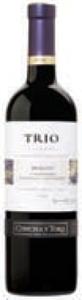 Concha Y Toro Trio Reserva Merlot/Carmenère/Cabernet Sauvignon 2010, Rapel Valley Bottle
