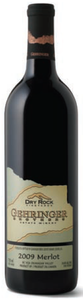 Gehringer Brothers Dry Rock Vineyards Merlot 2009, VQA Okanagan Valley Bottle