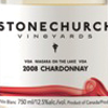 Stonechurch Vineyards Chardonnay 2008 Bottle